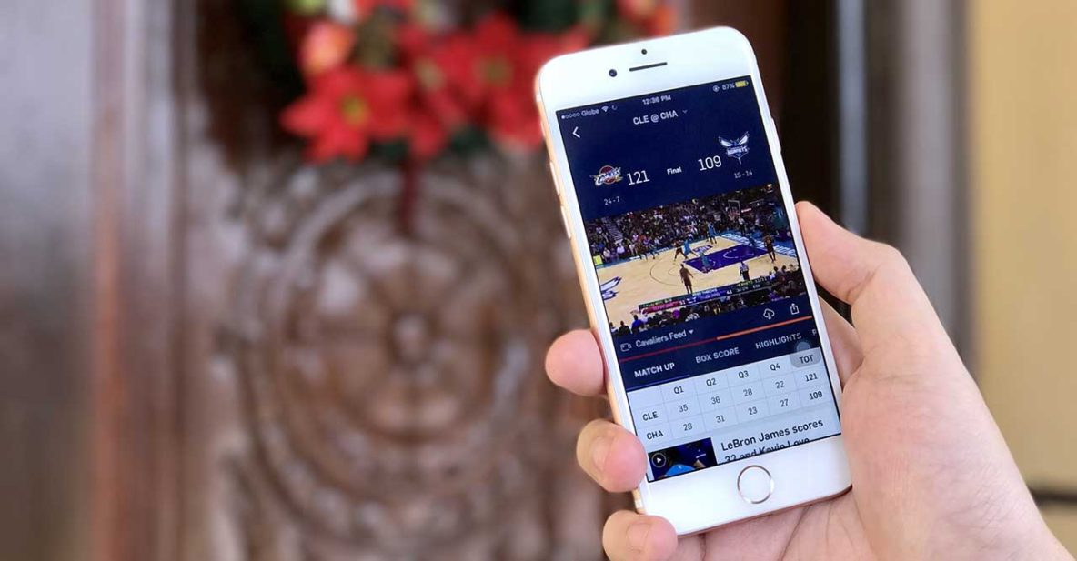 Downloading of games possible with NBA app a