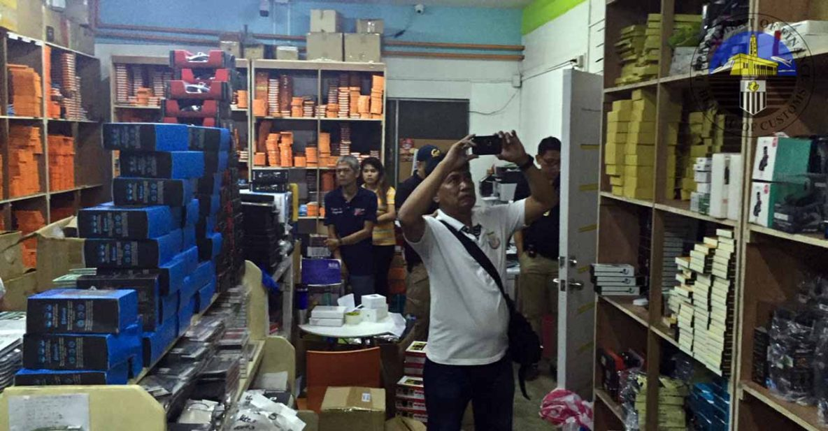 Kimstore warehouse in Tondo raided by the Bureau of Customs