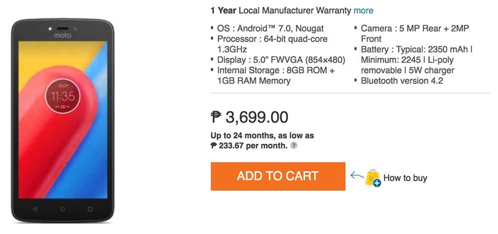 Lenovo Motorola Moto C price and specs_Philippines