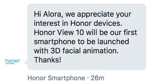 Honor View 10 V10 Animoji Revu Philippines tweet