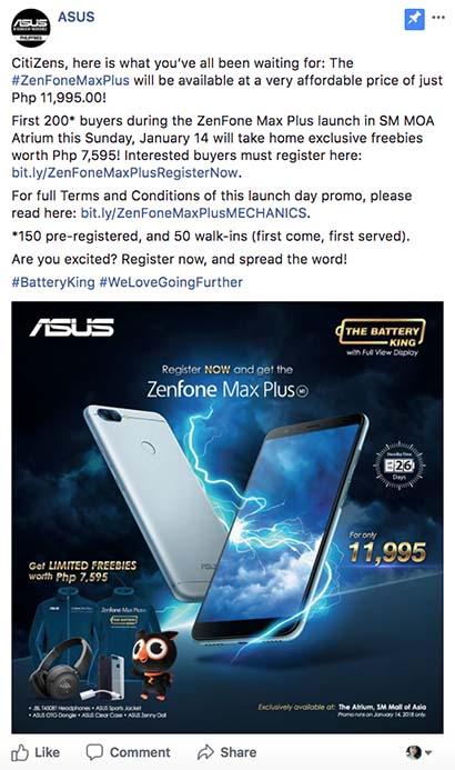 ASUS ZenFone 4 Max Plus M1 price and specs on Revu Philippines