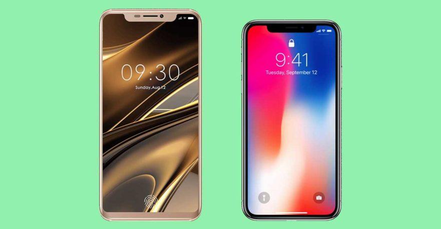 Doogee V vs iPhone X design leak on Revu Philippines