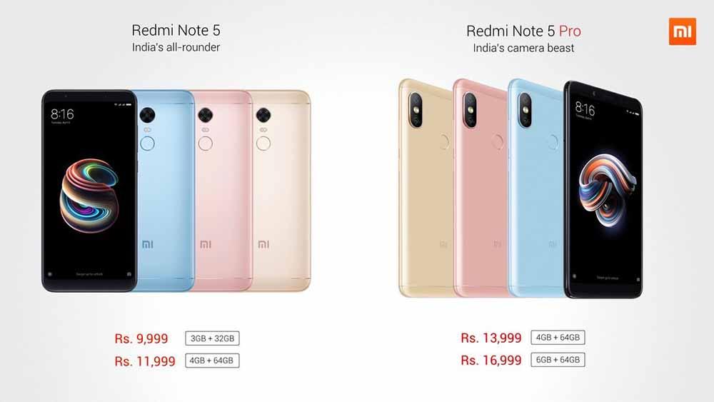 Xiaomi Redmi Note 5 Pro and Redmi Note 5 (Redmi 5 Plus) price and specs on Revu Philippines