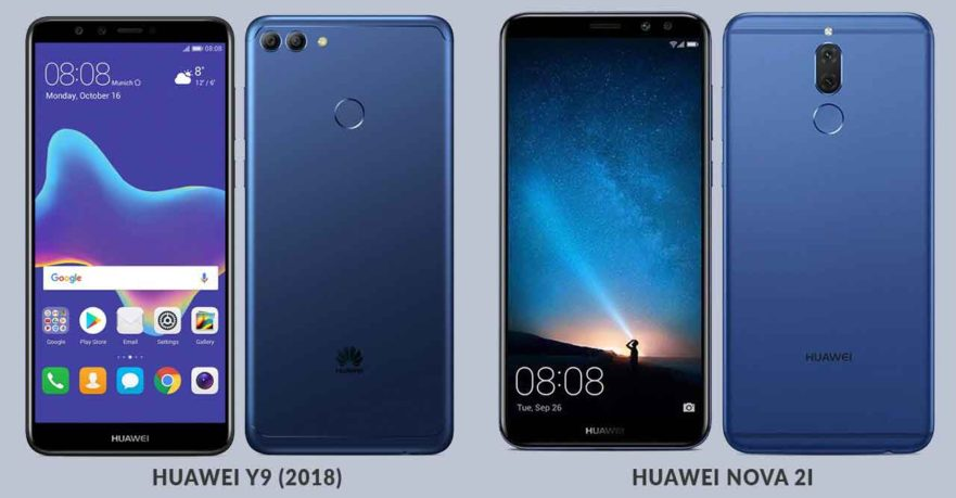Huawei Y9 2018 vs Huawei Nova 2i specs and price comparison on Revu Philippines