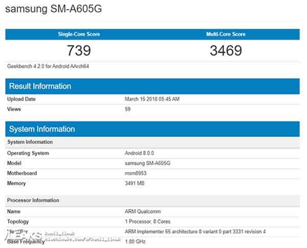 Samsung Galaxy A6 Plus benchmark score and specs leak on Revu Philippines