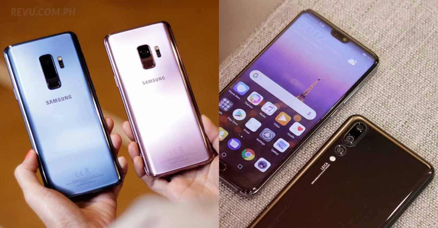 Samsung Galaxy S9 and S9 Plus vs Huawei P20 and P20 Pro on Revu Philippines