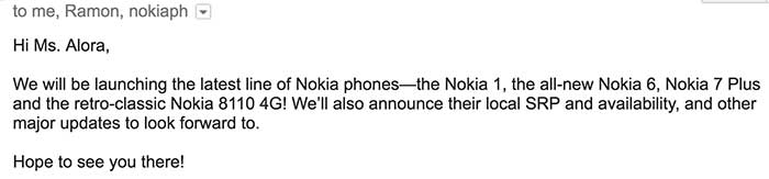 Nokia 7 Plus, Nokia 6 2018, Nokia 1, Nokia 8110 4G launch in the Philippines. No Nokia 8 Sirocco.