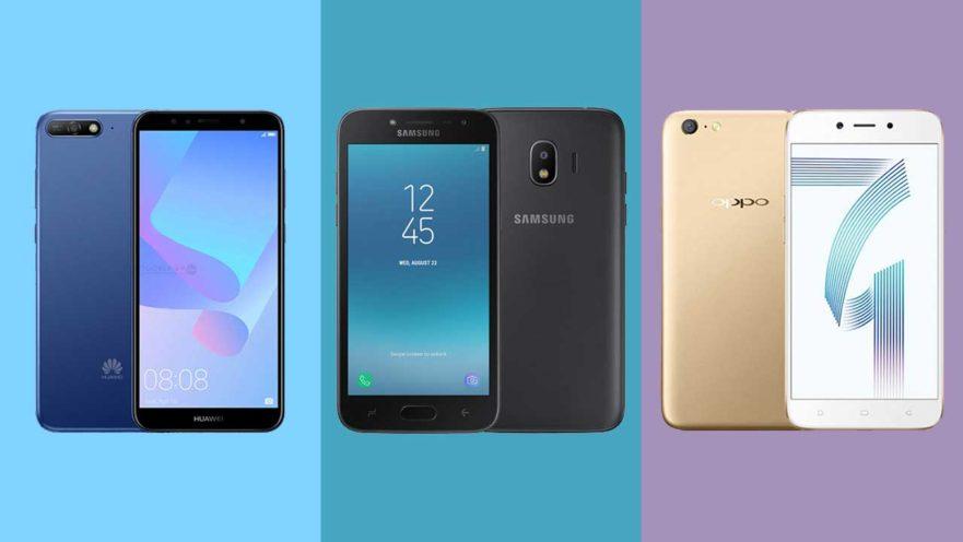 Huawei Y6 2018 vs Samsung Galaxy J2 Pro vs OPPO A71: Specs and price comparison on Revu Philippines