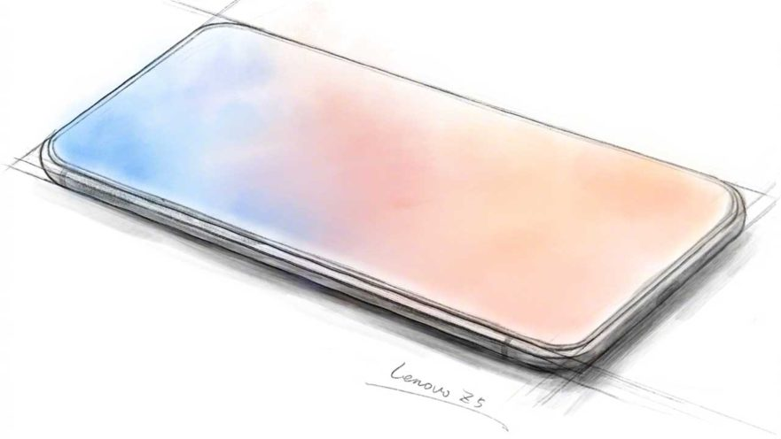 Lenovo Z5 sketch by Chang Cheng on Weibo via Revu Philippines