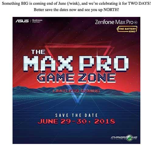 ASUS ZenFone Max Pro M1 6GB RAM possible launch invite on Revu Philippines
