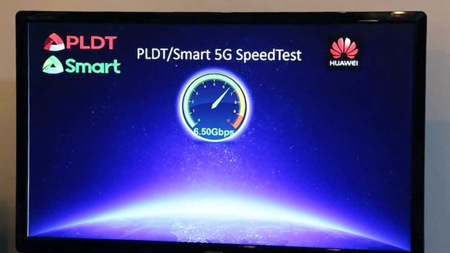 Smart Communications 5G speed test with Huawei on Revu Philippines