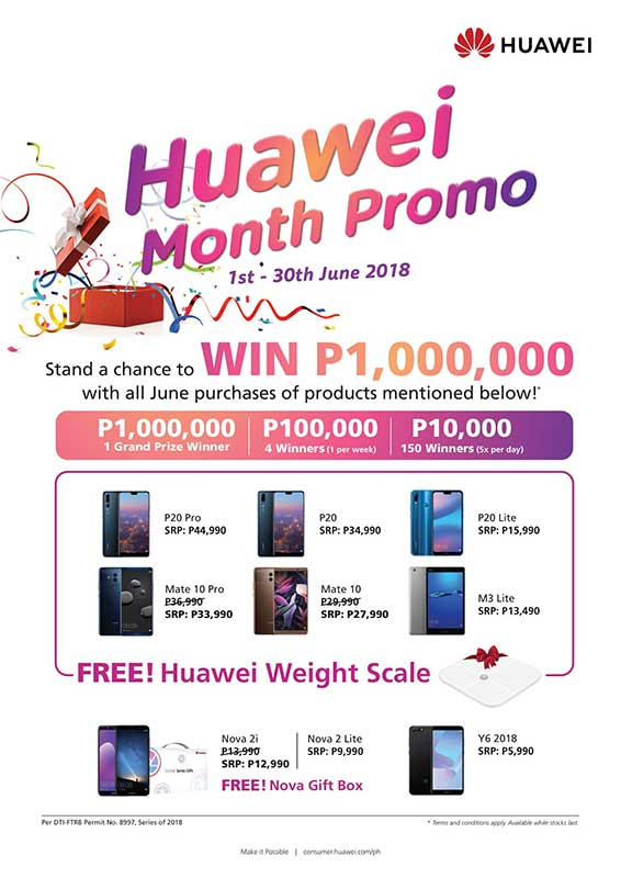 Win in the Huawei Lucky Promo on Revu Philippines