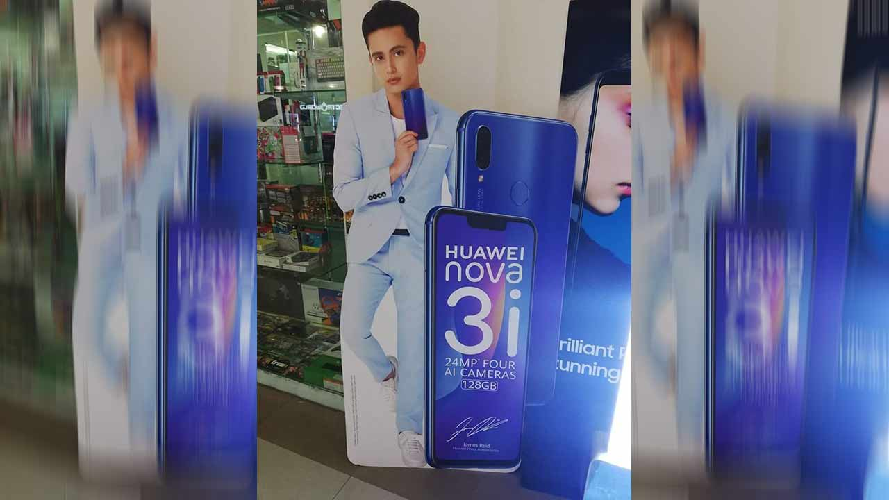 Huawei Nova 3i with James Reid as endorser on Revu Philippines