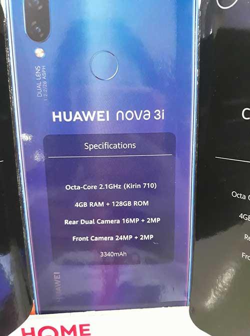 Huawei Nova 3i specs on Revu Philippines