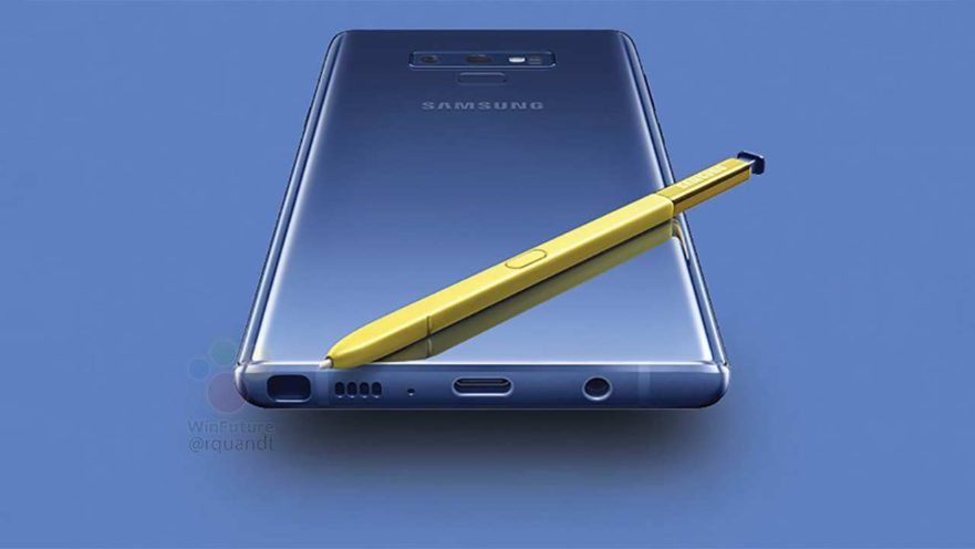 Samsung Galaxy Note 9 and stylus image render on Revu Philippines