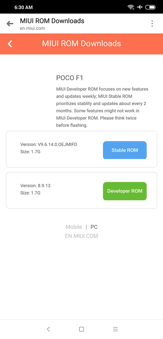 Step 1. How to upgrade Xiaomi Pocophone F1 to MIUI 10 on Revu Philippines