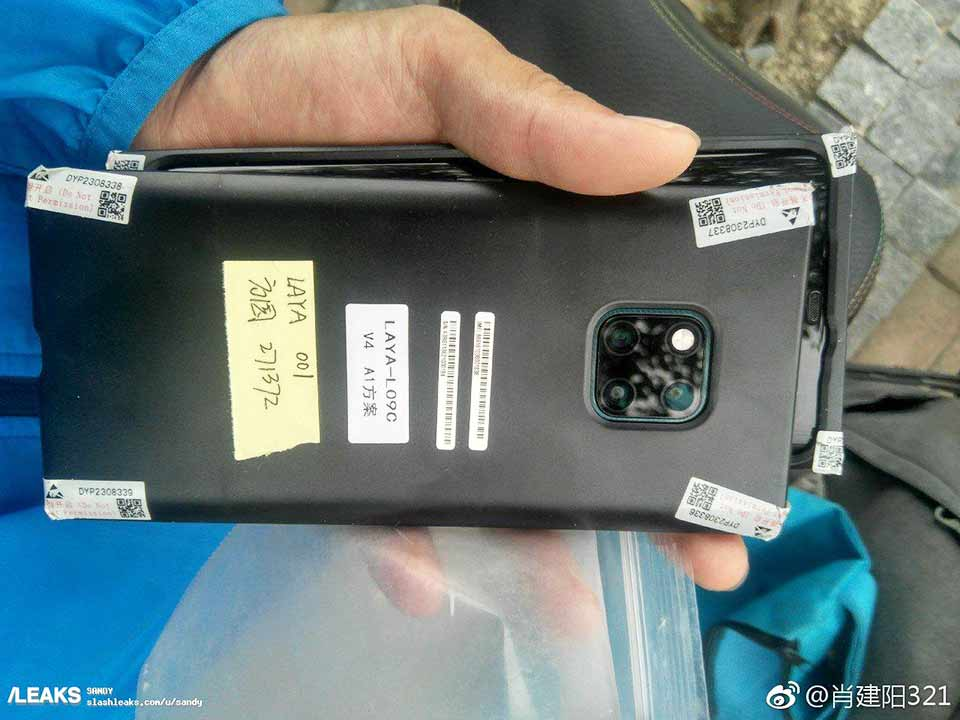 Huawei Mate 20 Pro live unit leak on Revu Philippines