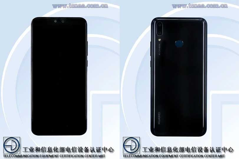 Huawei Y9 (2019) specs and design on TENAA via Revu Philippines