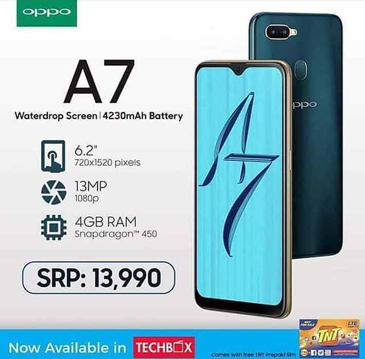 OPPO A7 price, specs, availability or release date in REUB Philipp
