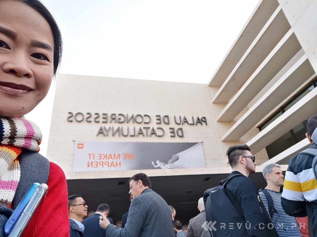 Alora Uy Guerrero at the Xiaomi MWC 2019 launch for Revu Philippines