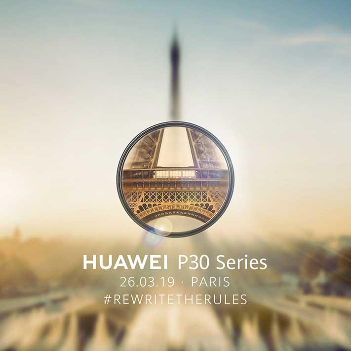 Huawei P30 series launch invite to Revu Philippines