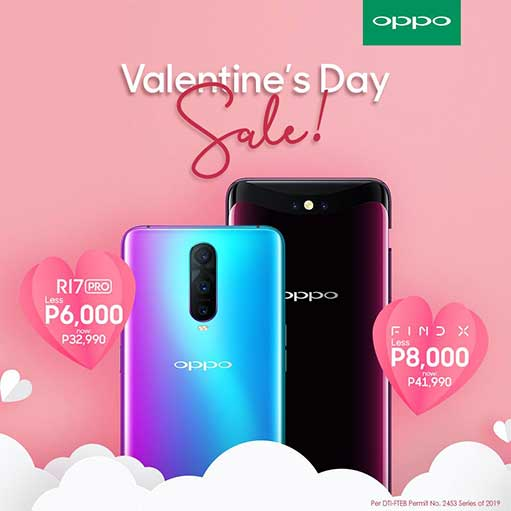 OPPO R17 Pro and OPPO Find X price drop for Valentine's Day Sale via Revu Philippines