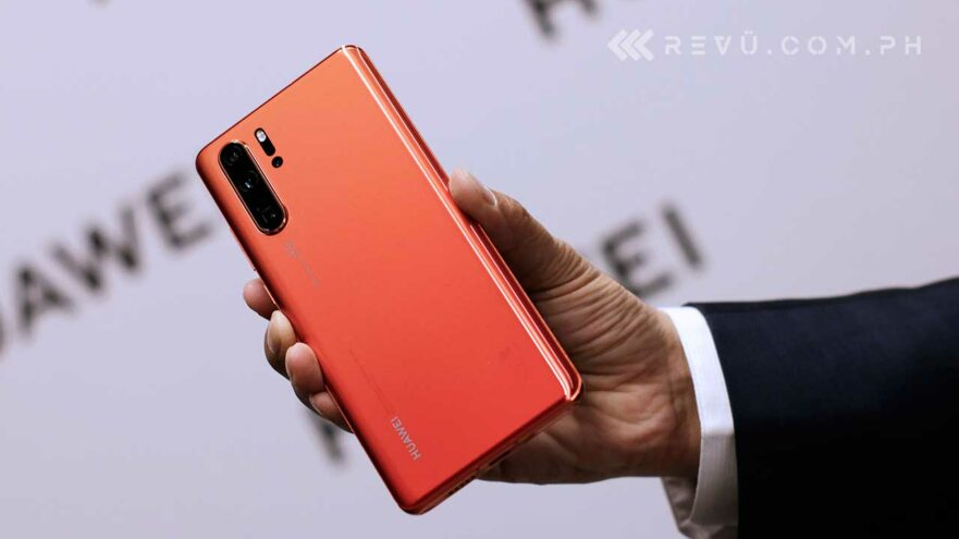 Huawei P30 Pro in Amber Sunrise color, price, specs, and availability via Revu Philippines