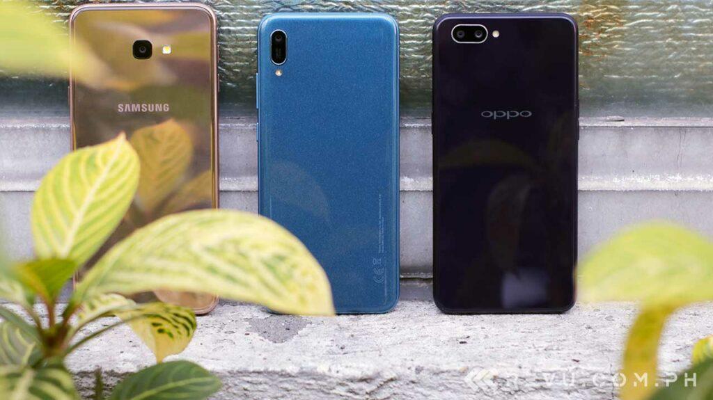Huawei Y6 Pro 2019 vs Samsung Galaxy J4 Plus vs OPPO A3s: Comparison by Revu Philippines
