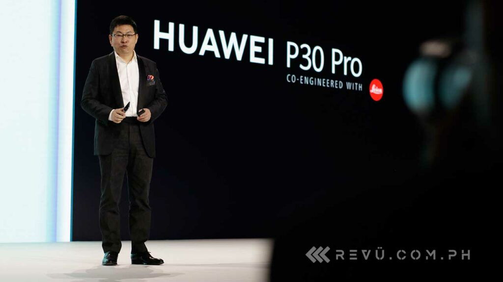 Richard Yu at the Huawei P30 and Huawei P30 Pro launch via Revu Philippines