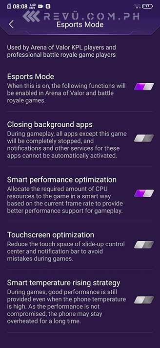 Vivo V15 Pro Esports mode in gaming review by Revu Philippines