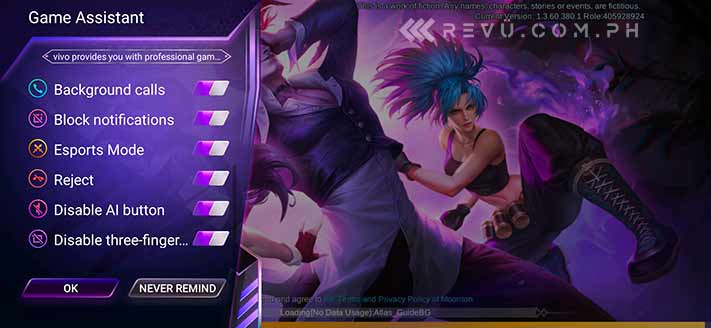 Vivo V15 Pro Game Cube gaming asistant on Revu Philippines