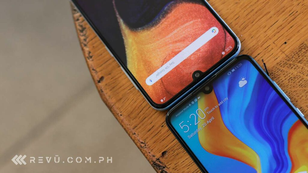 Huawei P30 Lite vs Samsung Galaxy A50 comparison review by Revu Philippines