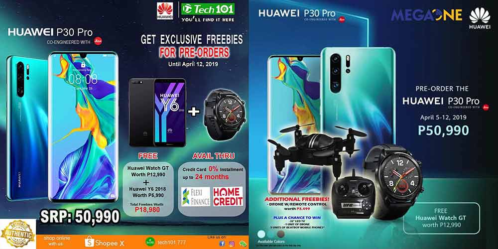 Huawei P30 Pro more freebies like Huawei Y6 2018 and a drone via Revu Philippines