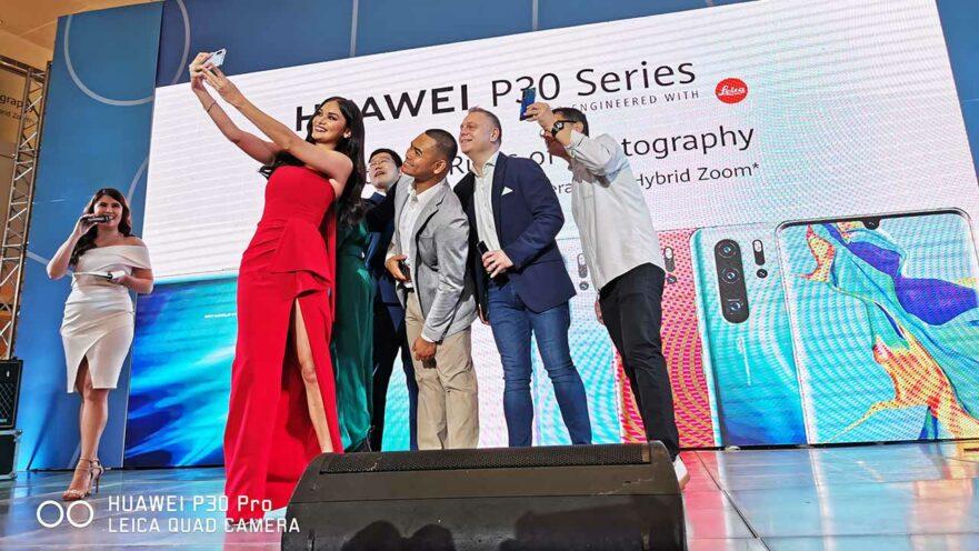 Pia Wurtzbach at the Huawei P30, Huawei Pro, and Huawei P30 Lite launch via Revu Philippines