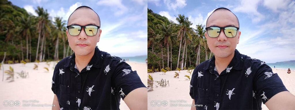 Vivo V15 Pro sample selfie pictures: Portrait mode vs Auto mode by Revu Philippines