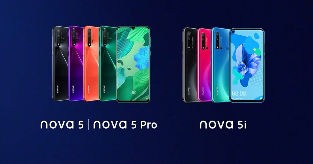 Huawei Nova 5 Pro vs Nova 5 vs Nova 5i specs comparison by Revu Philippines