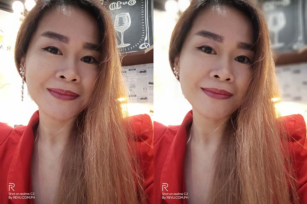 Realme C2 sample selfie pictures: Auto mode vs Portrait mode by Revu Philippines