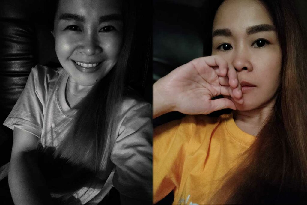 Redmi K20 Pro sample nighttime selfie pictures: Black and white and colored by Revu Philippines
