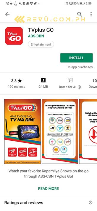 ABS-CBN TVplus Go app, review, price, and channels by Revu Philippines