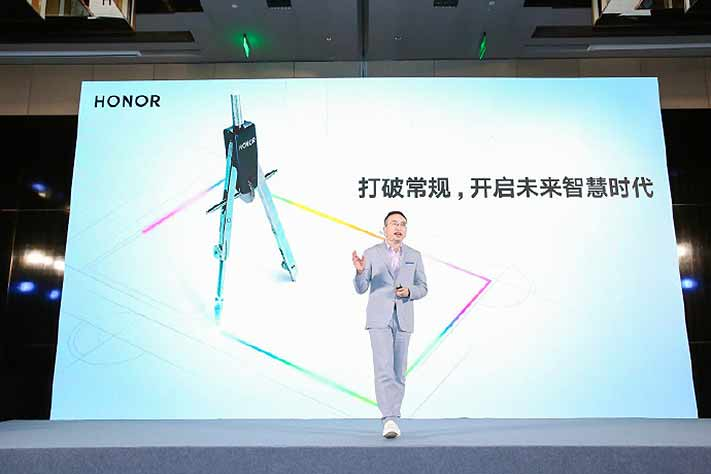 Honor President George Zhao at the Honor Vision smart screen TV pre-launch via Revu Philippines