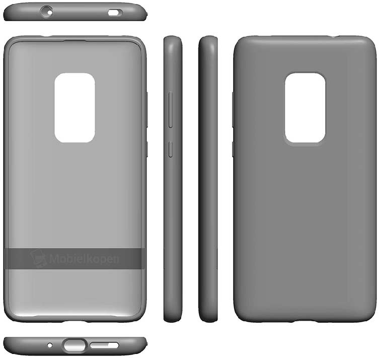 Alleged picture of Huawei Mate 30 Pro case in patent filed by Huawei via Revu Philippines