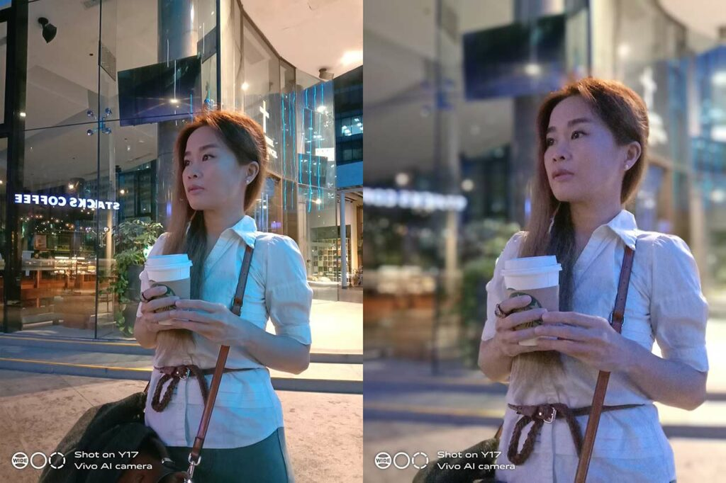Vivo Y17 sample night pictures: auto mode vs portrait mode or with bokeh effect by Revu Philippines