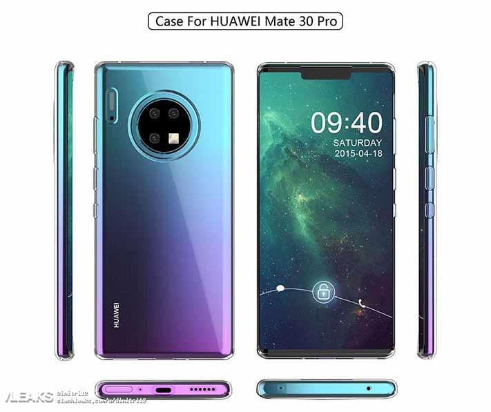 Huawei Mate 30 Pro case render leak via Revu Philippines