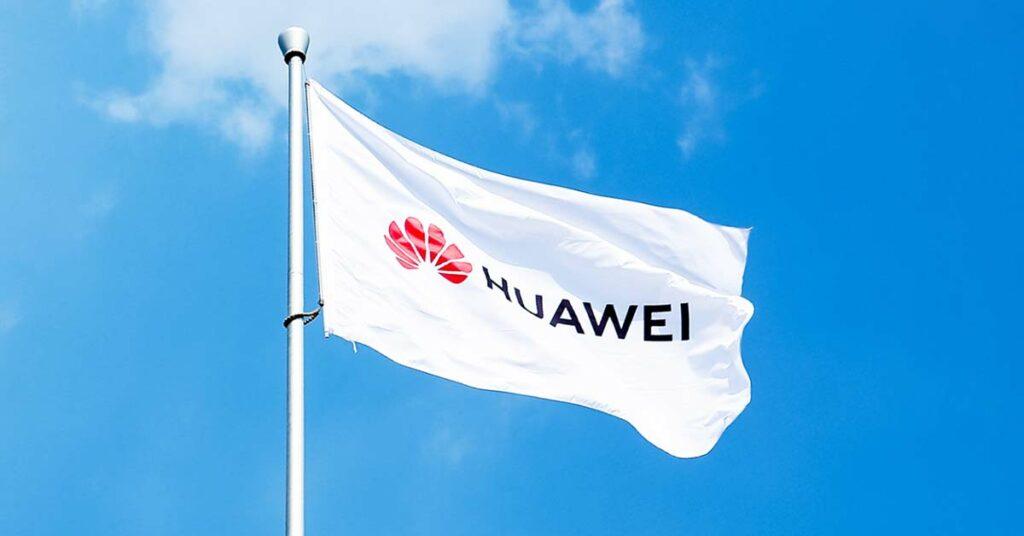 Huawei logo flag at the HDC 2019 via Revu Philippines