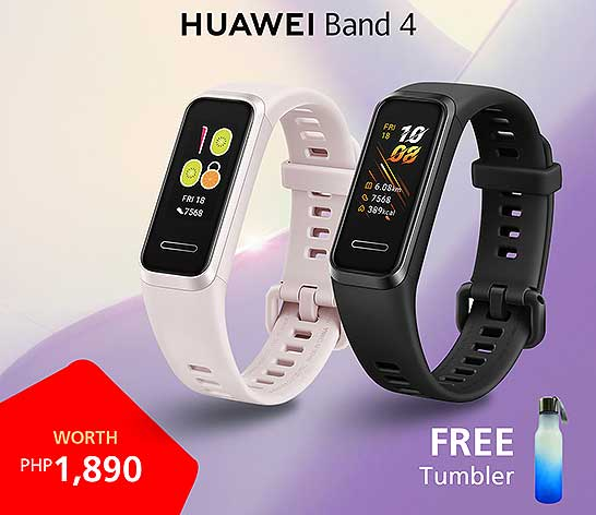 Huawei Band 4 preorder freebie, price, and specs via Revu Philippines