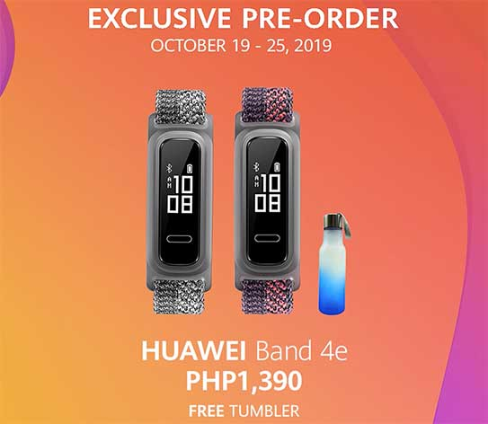 Huawei Band 4e preorder freebie, price, and specs via Revu Philippines