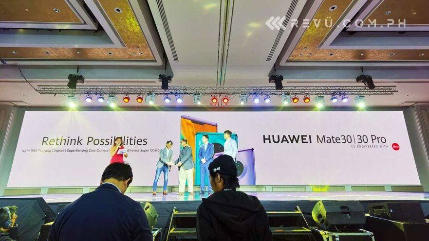Huawei Mate 30 Pro price, specs, and preorder details plus ambassadors Jericho Rosales, Sid Maderazo, and GP Reyes via Revu Philippines