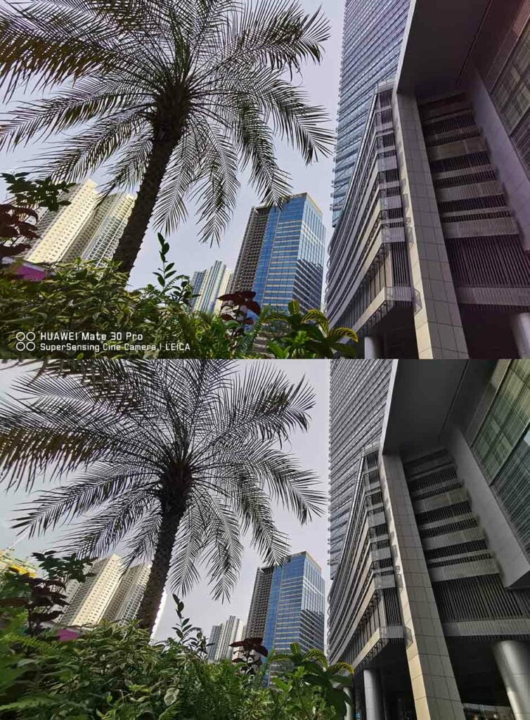 Huawei Mate 30 Pro vs Huawei P30 Pro sample ultra-wide-angle pictures by Revu Philippines
