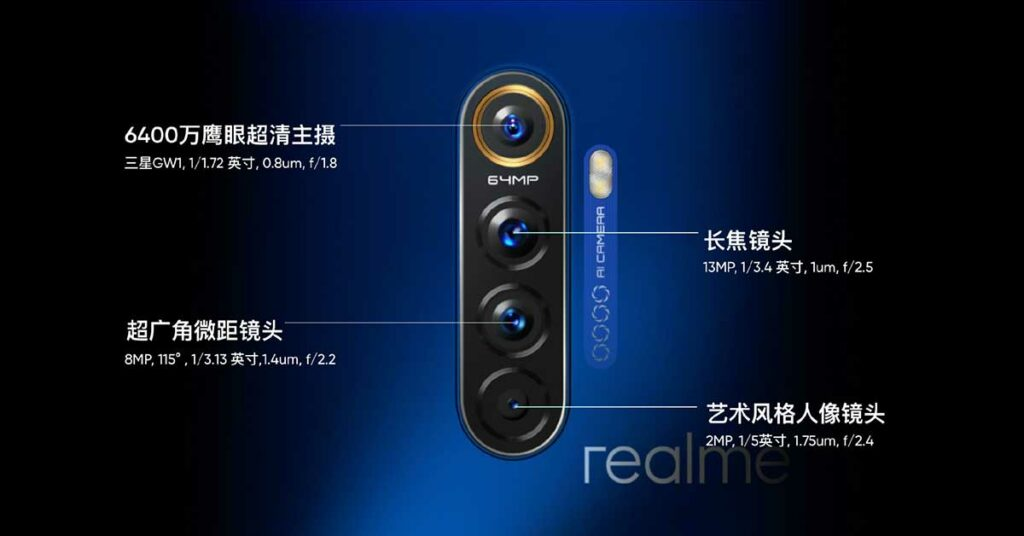 Realme X2 Pro 64MP quad camera details via Revu Philippines
