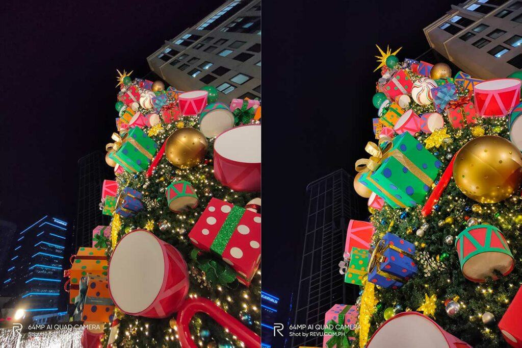 Realme XT sample night pictures: ultra-wide vs 1x in auto mode by Revu Philippines